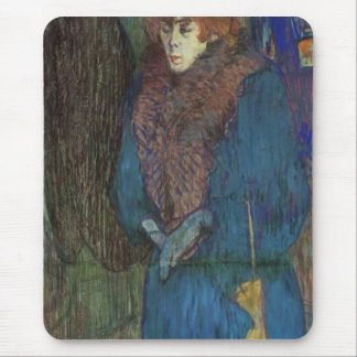 Toulouse-Lautrec - Jane Avril entering in the Moul Mousepad