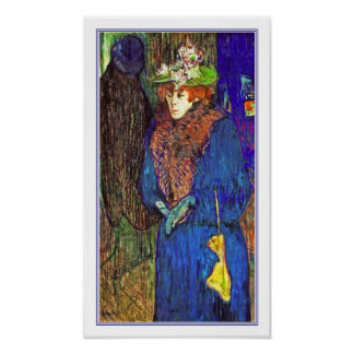 Toulouse Lautrec - Jane Avril entra en el colorete Impresiones
