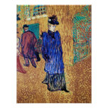 Toulouse Lautrec: Jane Avril Leaves the Moulin R. Print