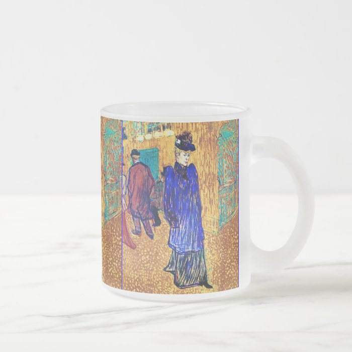 Toulouse Lautrec: Jane Avril Leaves the R. Frosted Glass Coffee Mug