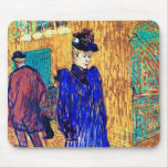 Toulouse Lautrec: Jane Avril Leaves the R. Mousepads