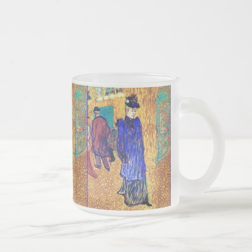 Toulouse Lautrec: Jane Avril Leaves the R. Mugs