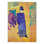 Toulouse-Lautrec - Jane Avril leaves the Ro Cards