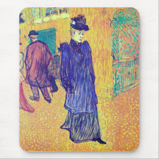 Toulouse-Lautrec - Jane Avril leaves the Ro Mousepad