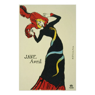 Toulouse-Lautrec Jane Avril Poster