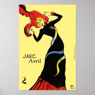 Toulouse Lautrec - Jane Avril Poster
