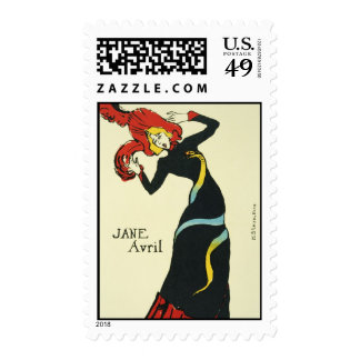 Toulouse-Lautrec Jane Avril Stamp