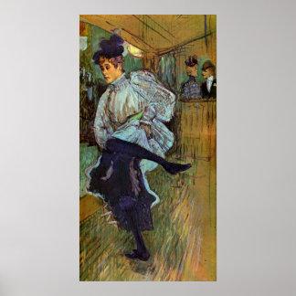Toulouse-Lautrec - Jane Avril que baila 2 Posters