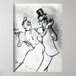 Toulouse-Lautrec: La Goulue and Valentin, Waltz Posters