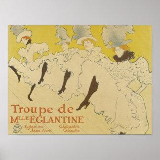 Toulouse Lautrec- La Troupe de Mlle Eglantine 1895 Impresiones