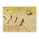 Toulouse Lautrec- La Troupe de Mlle Eglantine 1895 Postal