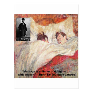 Toulouse-Lautrec Marriage Quote Gifts & Tees Postcard