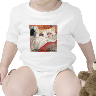 Toulouse-Lautrec Marriage Quote Gifts & Tees Rompers