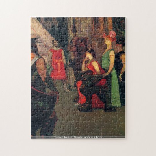 Toulouse-Lautrec - Messaline sitting on a throne Jigsaw Puzzle
