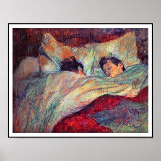 Toulouse-Lautrec - par en cama Póster