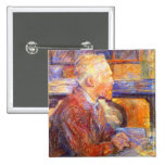 Toulouse-Lautrec Portrait of Van Gogh Buttons