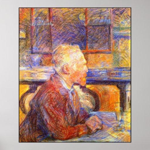 Toulouse-Lautrec Portrait of Van Gogh Print