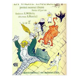 Toulouse Lautrec Poster Art Postcard