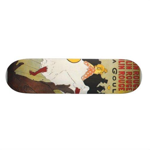 Toulouse Lautrec Poster Art Skate Board Deck