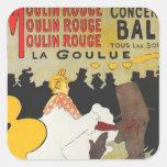Toulouse Lautrec Poster Art Stickers