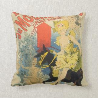 Toulouse Lautrec Poster Art Throw Pillow