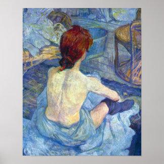 Toulouse-Lautrec - Rousse the Toilet Poster