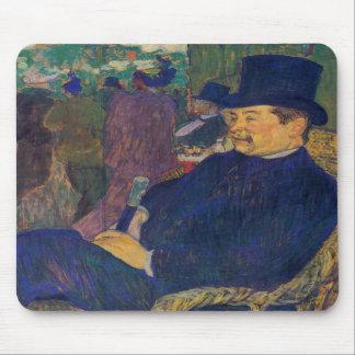 Toulouse-Lautrec - señor Delaporte en el jardín Alfombrilla De Ratón
