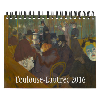 Toulouse-Lautrec Small 2016 Calendar