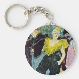 Toulouse Lautrec The Clowness vintage picture, Keychain