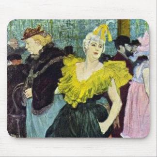 Toulouse Lautrec The Clowness vintage picture, Mouse Mat