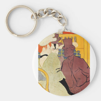 Toulouse-Lautrec - The english man at the R Keychain