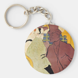Toulouse-Lautrec - The english man at the R Key Chain