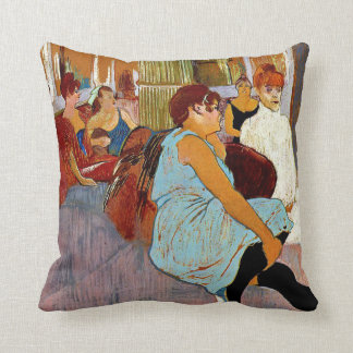 Toulouse-Lautrec - The Salon in the Rue des Moulin Throw Pillow