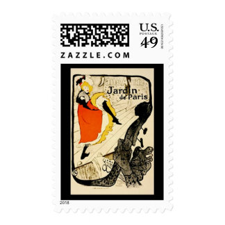 Toulouse Lautrec Vintage Gallery Postage Stamp