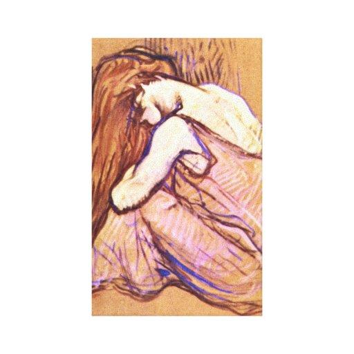 Toulouse-Lautrec - Woman Combing Hair Canvas Print