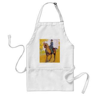 Toulouse-Lautrec Woman on Horse Apron
