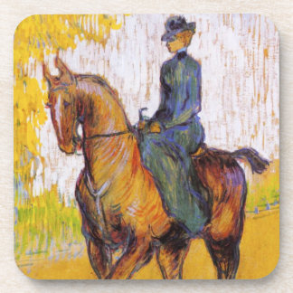 Toulouse-Lautrec Woman on Horse Coasters