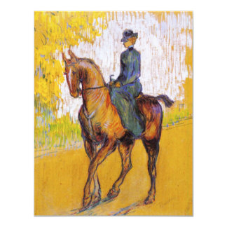 Toulouse-Lautrec Woman on Horse Invitations