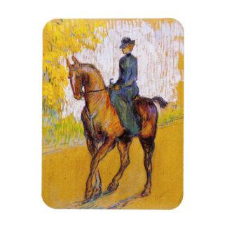 Toulouse-Lautrec Woman on Horse Magnet