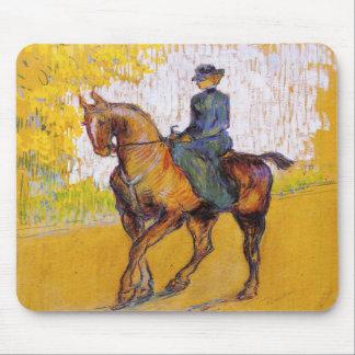 Toulouse-Lautrec Woman on Horse Mouse Pad