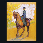 "Toulouse-Lautrec Woman on Horse Photo Print<br><div class=""desc"">Toulouse-Lautrec Woman on Horse photo print. Oil painting on canvas from 1899. Amazone is one of Henri de Toulouse-Lautrec's most famous horse paintings. The post-impressionist use of yellows, whites, reds and blues wonderfully captures the elegance of the scene. A great gift for fans of Henri de Toulouse Lautrec, horses, post-impressionism,...</div>"