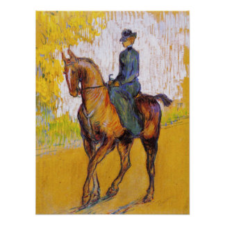 Toulouse-Lautrec Woman on Horse Poster