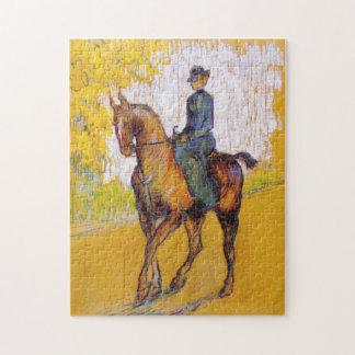 Toulouse-Lautrec Woman on Horse Puzzle