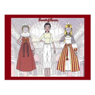 Toumid of Tunisia Paper Doll Postcard
