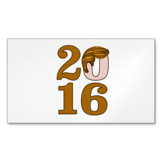 Toupee 2016 del triunfo tarjetas de visita magnéticas (paquete de 25)