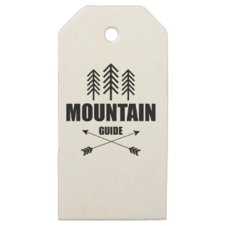 Tour and Adventure, Mountain Guide Wooden Gift Tags