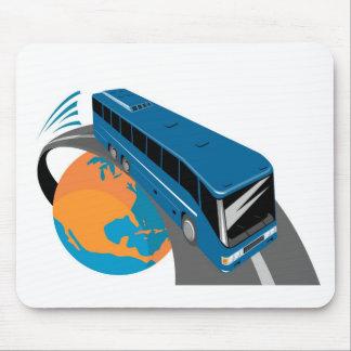 tour bus coach transport world travel mousepad