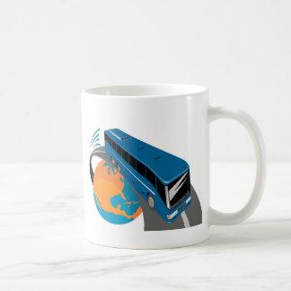 tour bus coach transport world travel mug