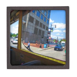 Tour Bus Window views of Boston City America USA Jewelry Box