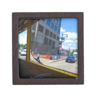 Tour Bus Window views of Boston City America USA Keepsake Box